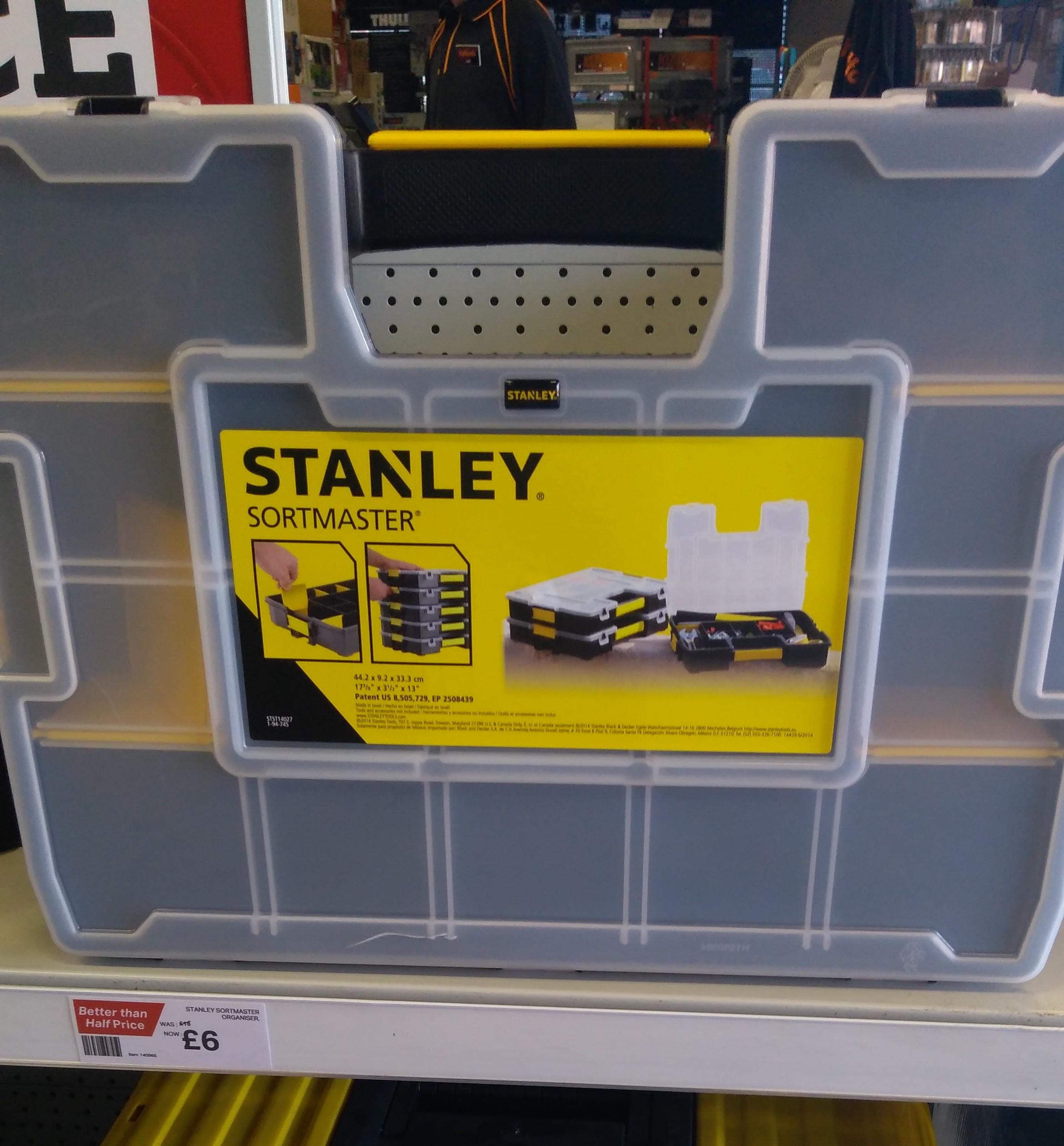STANLEY SORT MASTER ORGANISER @Halfords In Store/online RRP £16 now £6