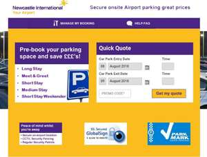 Code for Newcastle airport parking