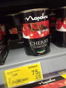 Napolina Tinned Cherry Toms only 75p at 'The ASDA' (was £1.34)