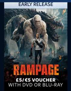 Free £5 voucher when you Buy & keep RAMPAGE from Sky - £13.99 DVD / £17.99 Blu Ray