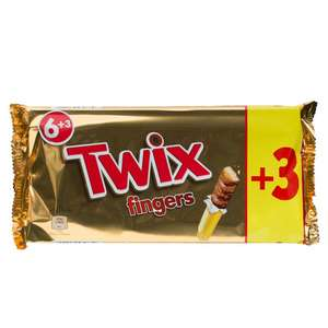9 Pack of Twix   89p @ Poundstretcher