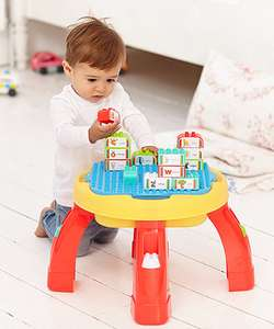 Building Activity Table compatible with Lego duplo bricks £16 from Early Learning Centre Free C&C @ ELC
