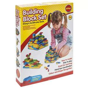 Building Block Set 600 pieces  £7.50 using code free click & collect @ The Works