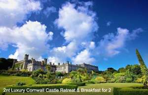 2 Night Cornwall Castle Stay + Breakfast + Golf + Tate tickets (Nov/Dec stays) £99 (£49.50pp) @ Wowcher