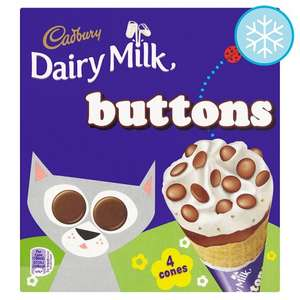 8 Cadbury Dairy Milk Buttons Ice Cream Cones ie 2 packs  for £3  in store & online @ Tesco.com