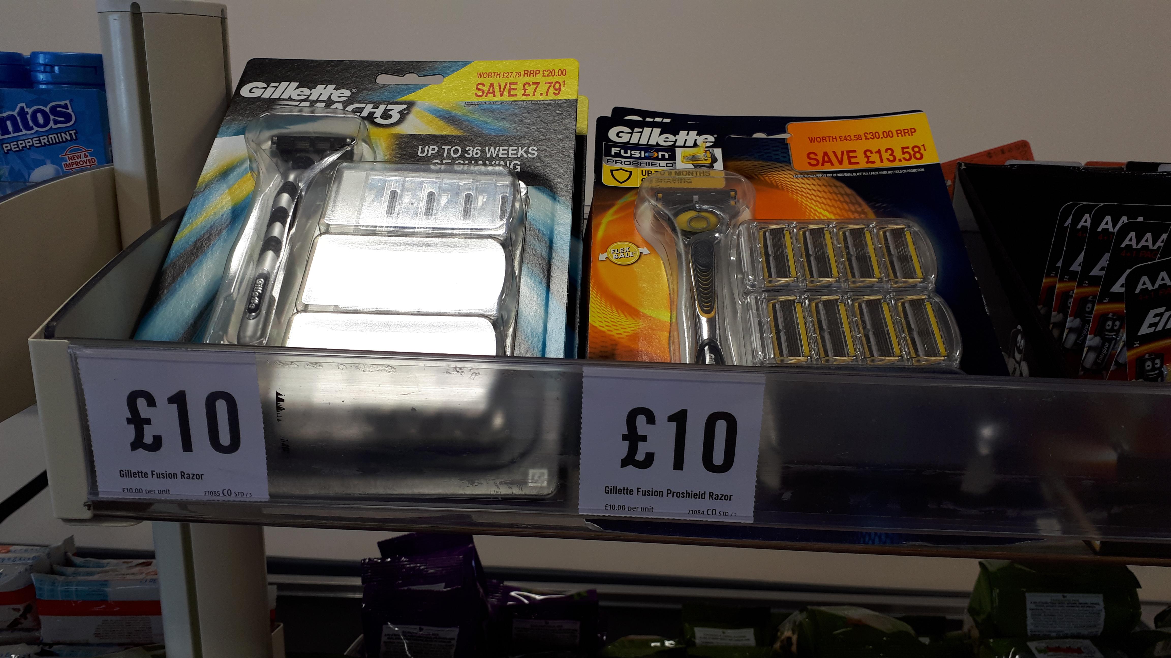 Gillette Mach 3 razor blades £10 @ Iceland warehouse lowestoft