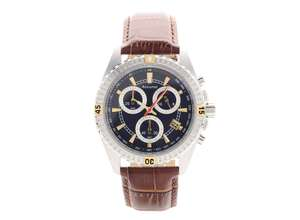 Accurist MS797NU Chronograph Brown Leather Strap Watch £49.99, was £149 @ F.HINDS