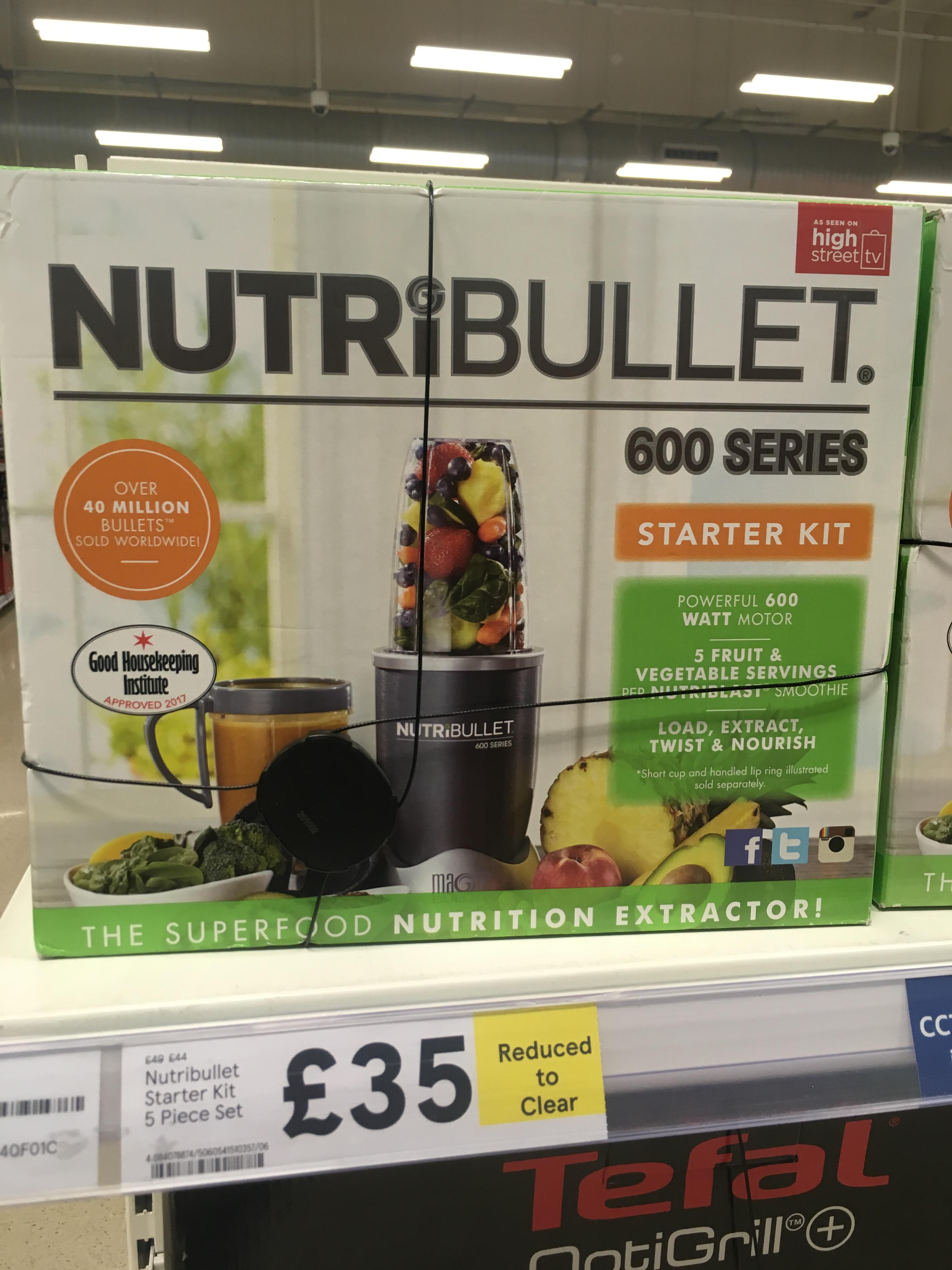NutriBullet 600 Series Starter kit (5 piece set) £35 instore at  Tesco Gateshead