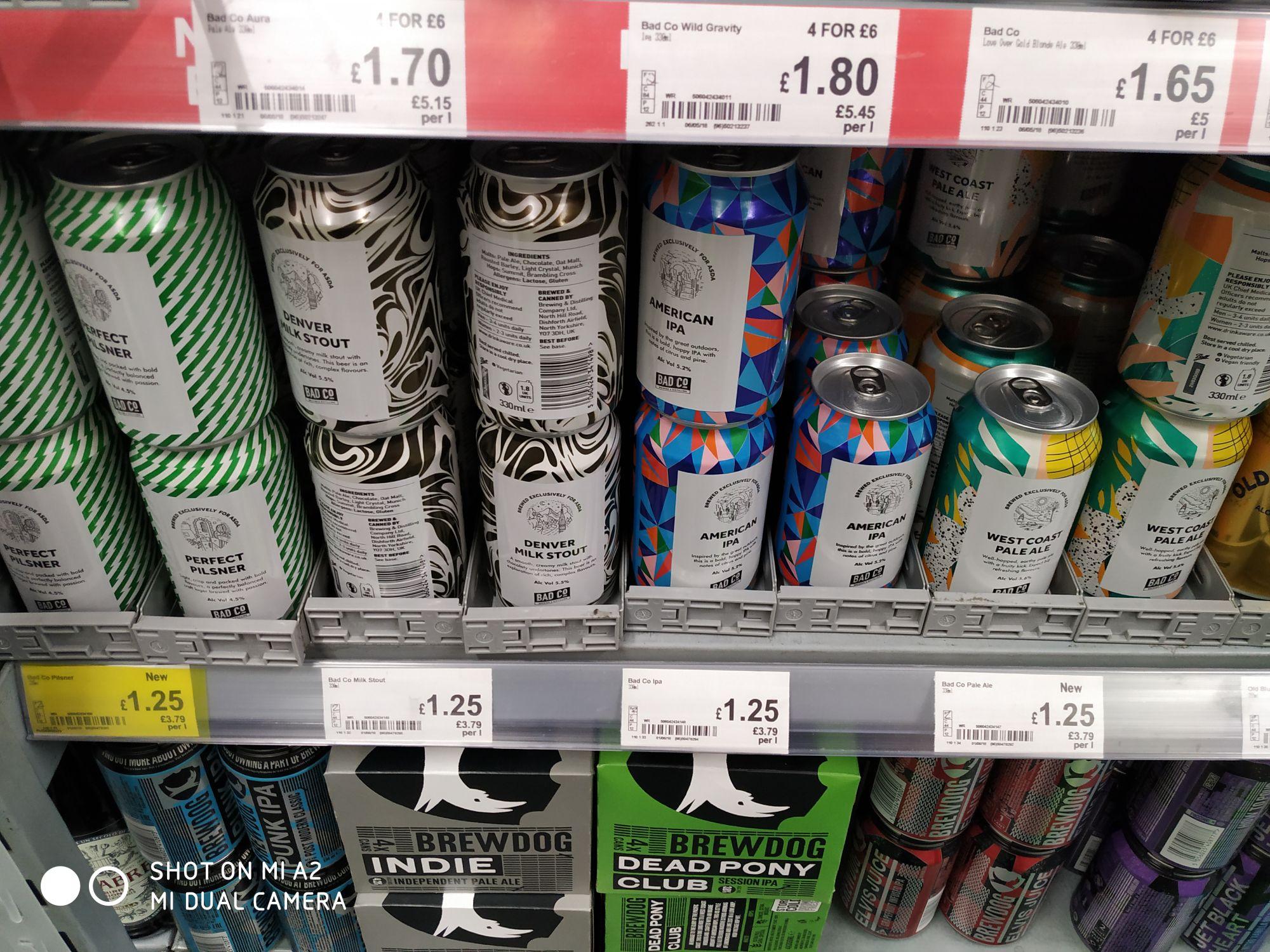 Asda Ales - Brewed by Bad Co - £1.25