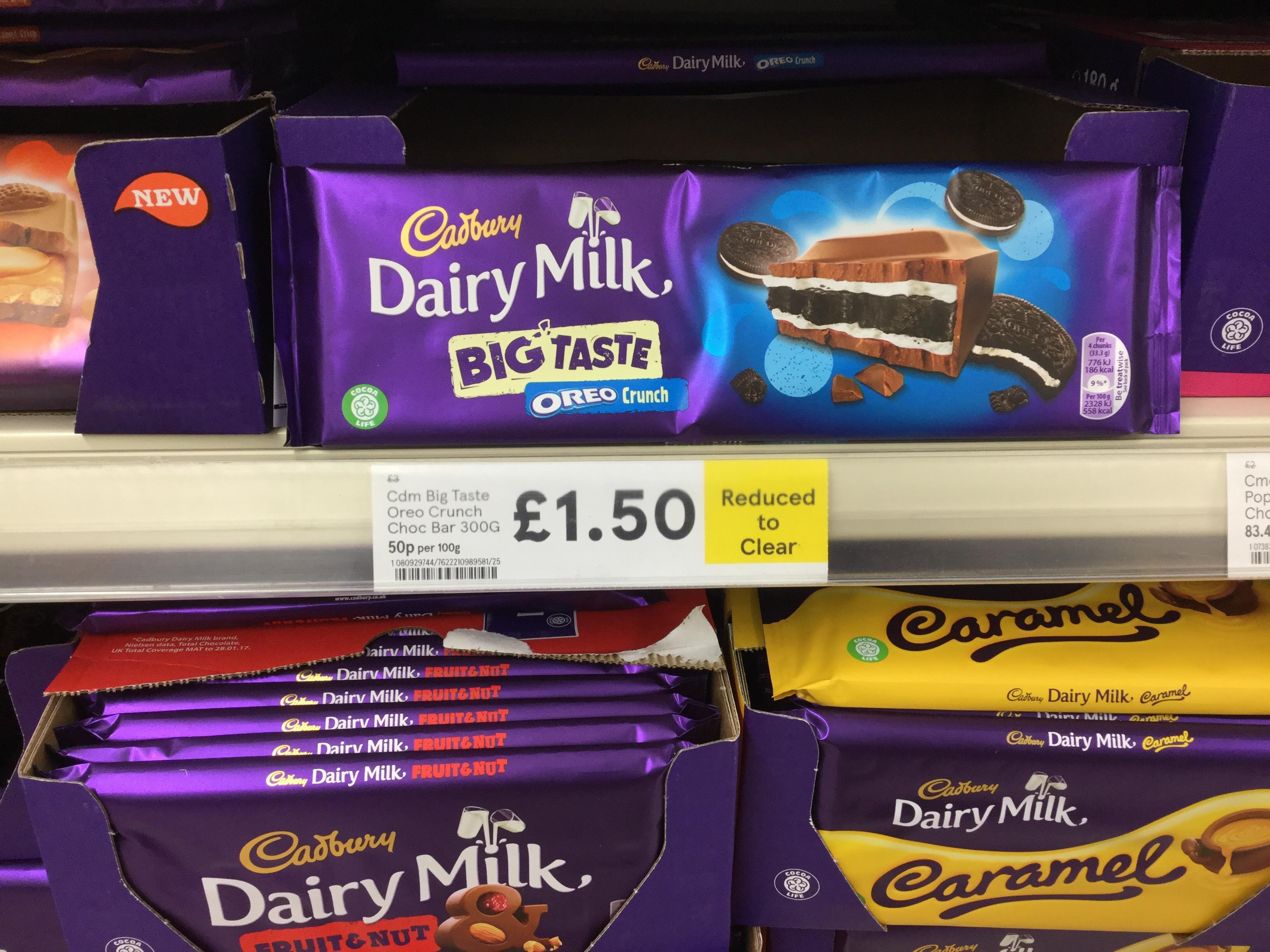 Dairy Milk Oreo Crunch 300g £1.50 @ Tesco Wokingham