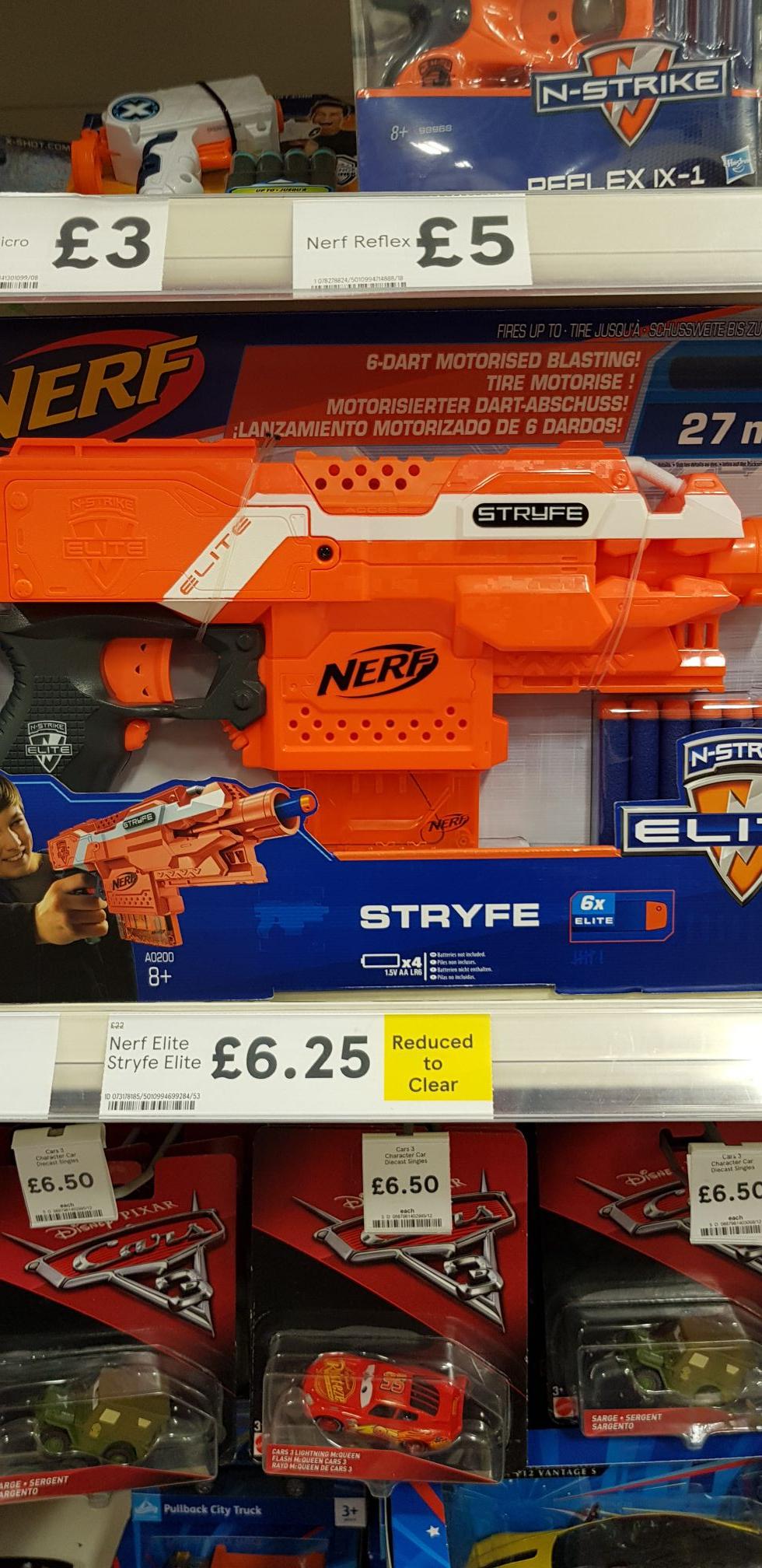 Nerf elite stryfe gun £6.25 instore Tesco Bangor NI