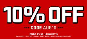 10% OFF* AT 365 GAMES USING CODE AUG10