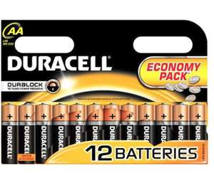 12 X Duracell AA Or AAA Batteries now £3.59 @ Poundstretcher