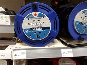 Masterplug Cassette Reel 10amp 4 Gang 8m, £6.50 in store at Wilko (Sheffield city centre)