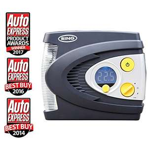 RING RAC635 Preset Digital Tyre Inflator Air Compressor Tyre @ Amazon (Free Delivery) - £31.96