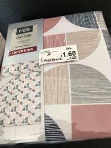 Duvet Set Super King Size George - Instore Oxford Asda £1.60
