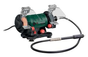 Parkside Double Bench Grinder with Flexible Drive Shaft on sale 19th August @ Lidl £22.99