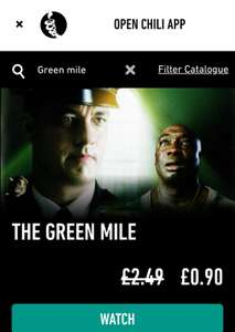 The Green Mile HD+ rental only £0.90p @ Chili