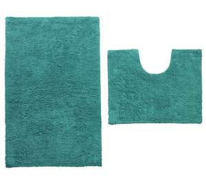 ColourMatch Bath and Pedestal Mat Set in Teal or Funky Fuchsia was £10.99 now £3.99 C+C @ Argos