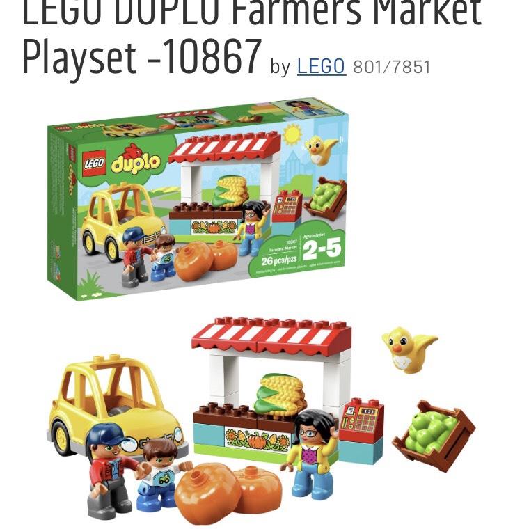Duplo Farmers Market 10867 £8.99 in Argos