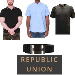 50% off at Republic Union w/code - T-shirts from £2.50 / Jackets from £9 / Belts £2 (See OP)