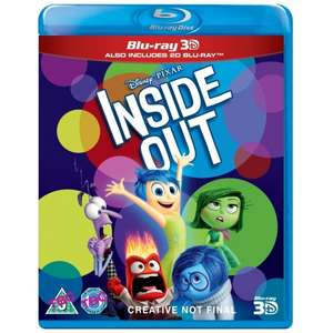 Inside Out 3D Blu Ray - £5.84 delivered with code AUG10 @ 365 games