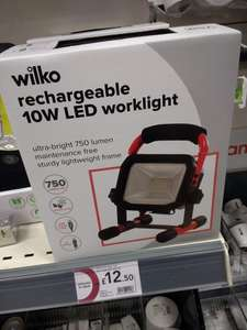 10W LED Rechargeable Work Light £12.50 @ Wilkos (was £25) In-Store only (web link for info)