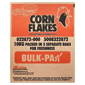 Kellogg's Corn Flakes Packets, 3.3 kg, 3-Count amazon prime £22.08 and subscribe and save bulk deal