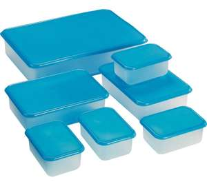 Home 7 piece plastic food storage set - biggest size 3.2 litres smallest size 300ml now £3.99 @ Argos