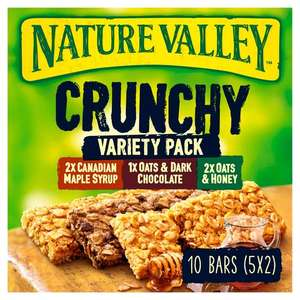 Nature Valley Crunchy Cereal Bars 5 x 42g - £1 in Morrisons