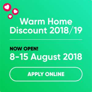 GOV.UK Warm home discount scheme/Utilita  that gives you £140 for eligible customers 2018/2019