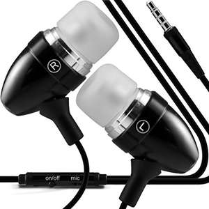 2 Pairs For £5.69 - (Black) Cubot Rainbowstylish Quality Aluminium In Ear Earbud/Earphones @ Amazon / Dispatched from and sold by i-Tronixs