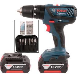 Bosch GSB 18V Li-ion Professional Compact Combi Drill Set 2 X 3.0Ah Batteries and Accessories  £108 when you C&C @ Travis Perkins