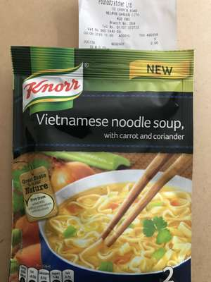 Knorr Vietnamese Packet Soup 29p at Poundstretcher