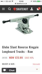 Globe Slant Reverse Kingpin Longboard Trucks £23.99 + £1.99 delivery at Skate hut
