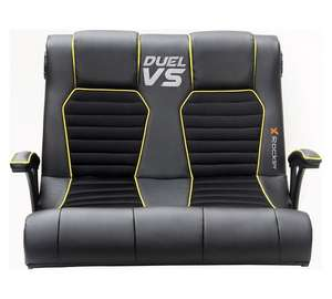 CLEARANCE - ARGOS - DUEL GAMING CHAIR WITH SPEAKERS £44.99