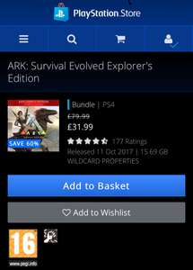 Ark Survival Evolved Explorers Edition PS4 - £31.99 @ PSN