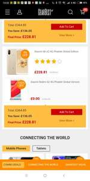 Xiaomi mi a2 64gb + A Free Gift Of Xiaomi Redmi S2 64GB £228.81 @ Gearbest