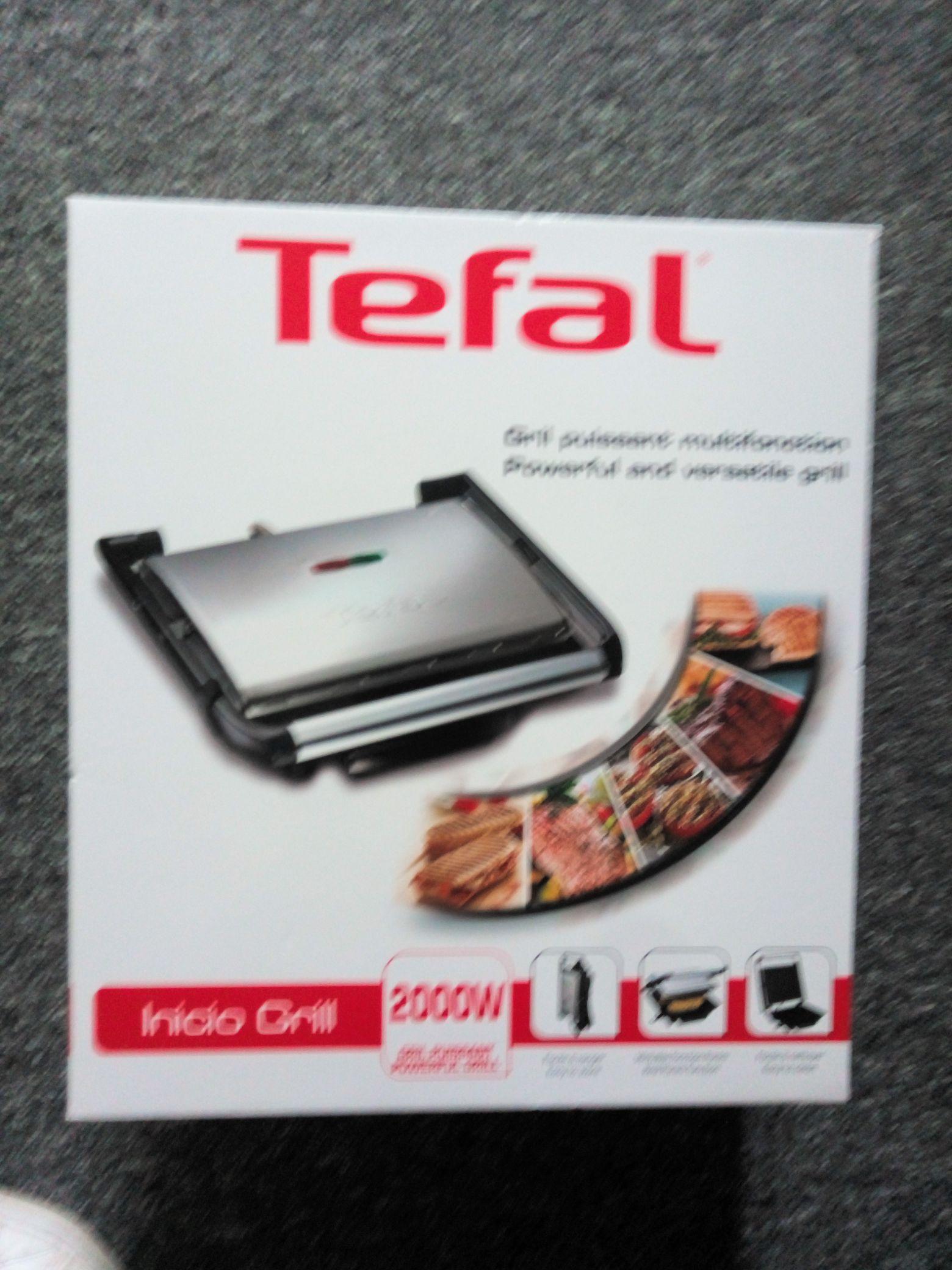 Tefal Inicio grill - £12.50 instore @ Tesco