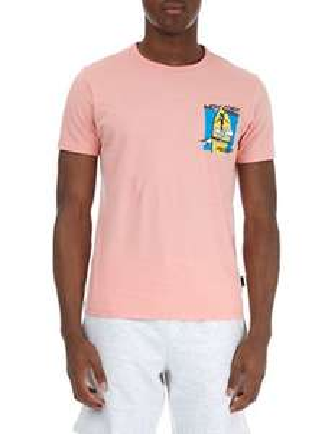 Burton - Pink surf chest print t-shirt £14 down to £4 in Debenhams sale