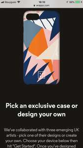 FREE Personalised Phone Case Wrappz when with VOXI VODAFONE.
