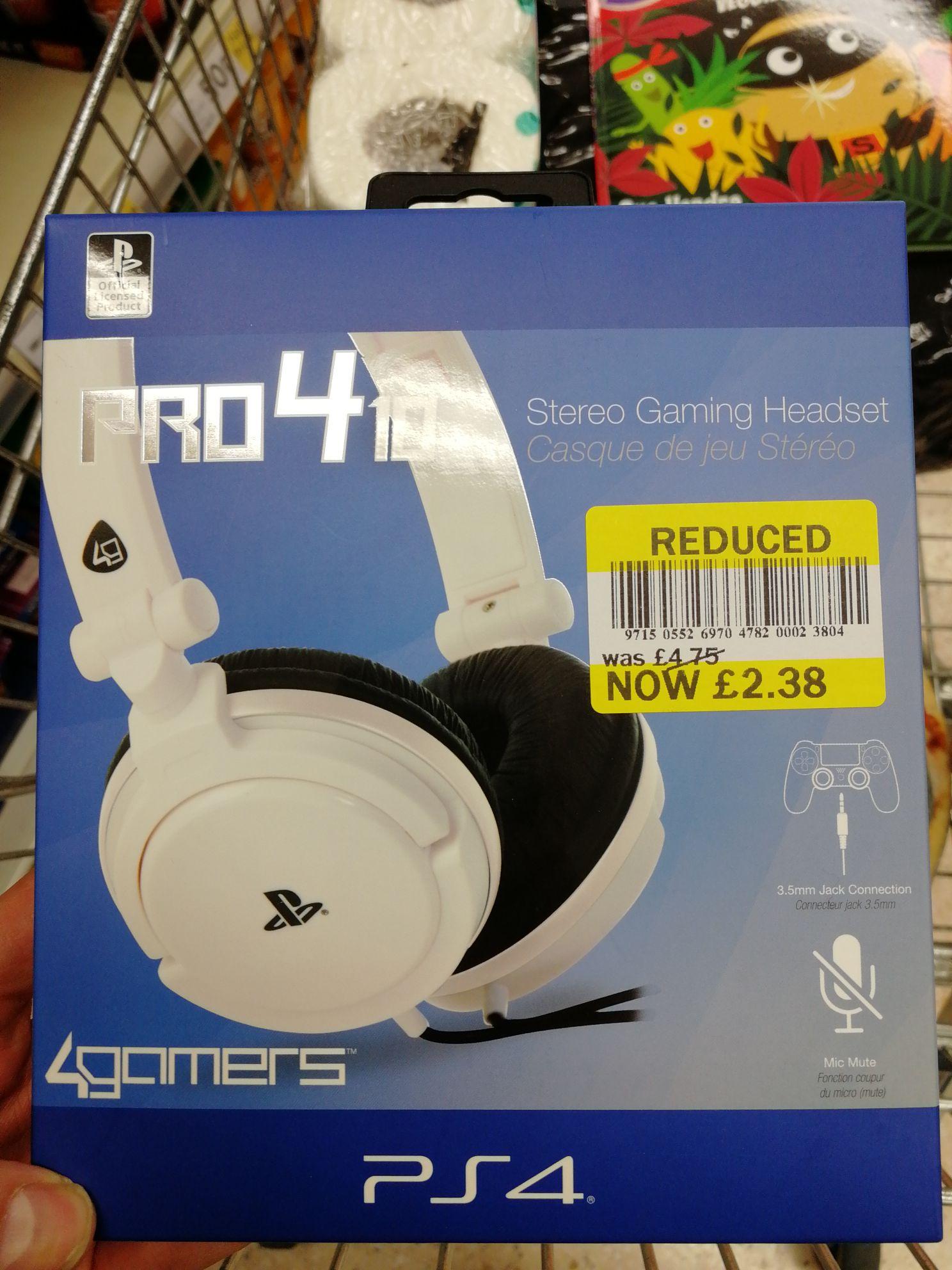 Pro 410 ps4 headset - £2.38 instore @ Tesco