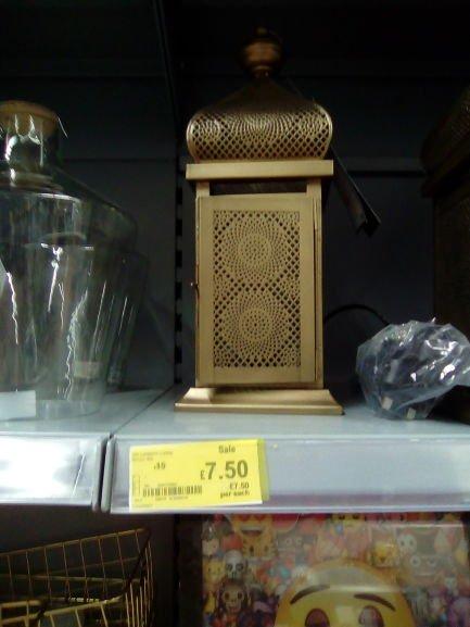 1\2 Price: Moroccan style lantern lamp now £7.50 @ Asda ( instore E.Port)