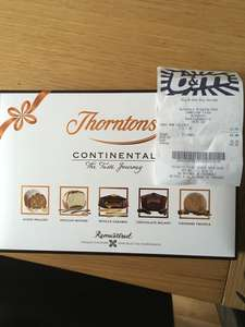 Thornton's continental remastered 142g instore at B&M for £1.49