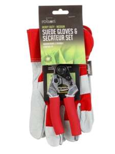 Pair of Gloves & Secateur Set £1 at B&M