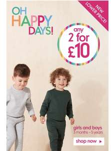 2 for £10 Selected clothing / Buy one get one half price on baby essentials & full price maternity bras @ Mothercare + more offers in OP
