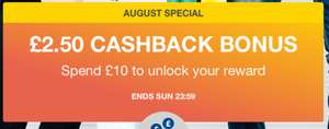 £2.50 bonus on a £10 Spend @ Quidco