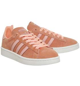 Adidas Campus Trainers Sun Glow Still Breeze White Size 4 Only £33.50 Delivered or click and collect Free @ Offspring