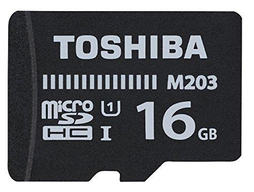 Toshiba 16GB M203 MicroSD Class 10 U1 100MB/s with Adapter, Black.£3.98 w/promo @ Amazon - Add on Item / Minimum Spend £20