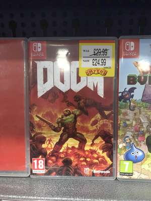 Doom for Nintendo Switch £24.99 @ Smyths In-Store